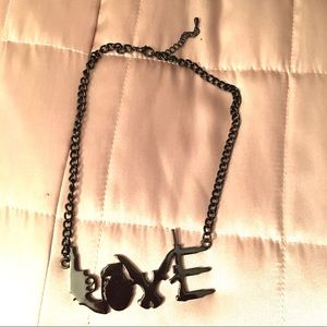 Hot Topic Love Symbol Necklace